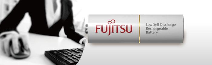 Пальчиковые аккумуляторы Fujitsu 2000 mAh (min 1900 mAh) серии HR-3UTC EX в пластиковом боксе (АА).