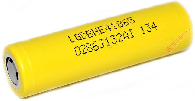 LG HE4 2500mAh 20A - высокотоковый промышленный Li-ion аккумулятор формата 18650.