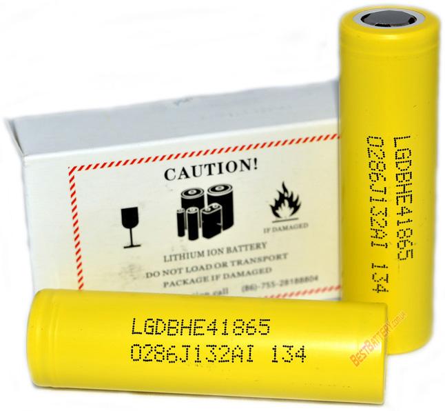 Аккумуляторы LG HE4 18650 2500 mAh 20A