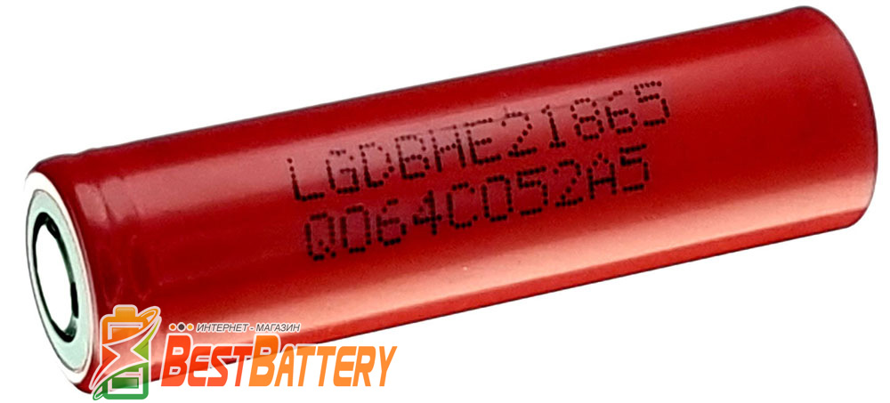 Аккумуляторы LG HE2 18650 2500 mAh 20A без платы защиты.
