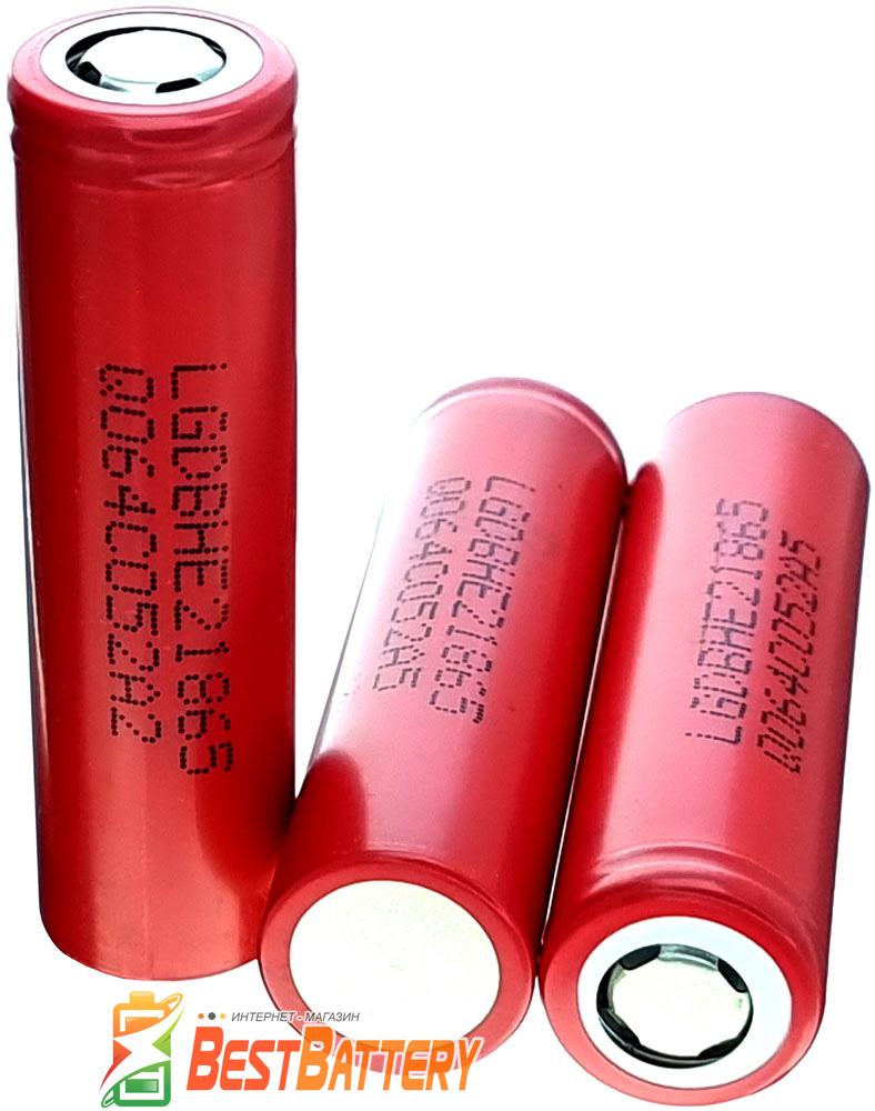 LG HE2 2500mAh 20A - высокотоковый промышленный INR Li-ion аккумулятор формата 18650.