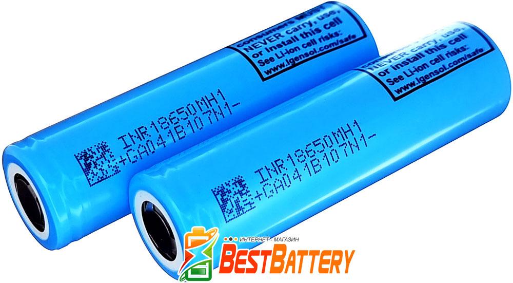 Li-Ion аккумуляторы 18650 LG MH1 3200 mAh 10А.