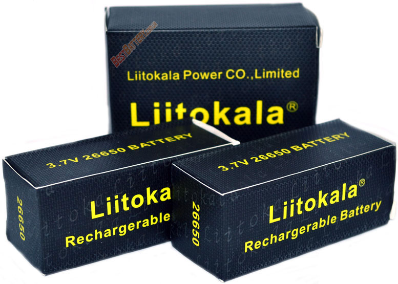 Упаковка аккумуляторов 26650 Liitokala Lii-50A 5000 mAh.