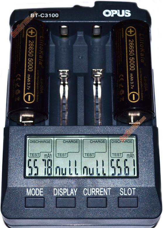 Тест аккумуляторов LiitoKala 26650 Lii-50A 5000 mAh.