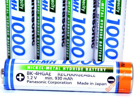 Аккумуляторы Panasonic 1000 mAh BK-4HGAE без упаковки