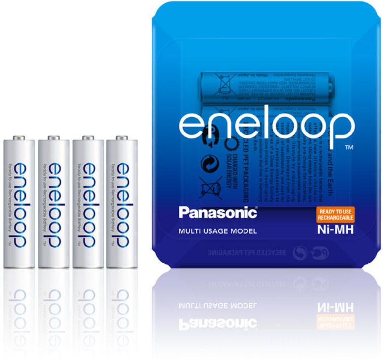 Минипальчиковые аккумуляторы Panasonic Eneloop BK-4MCCE 8LE.