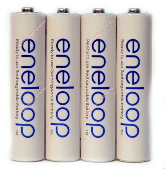 Минипальчиковые аккумуляторы Panasonic Eneloop 800 mAh (min750 mAh) BK-4MCCE без упаковки (AAA)