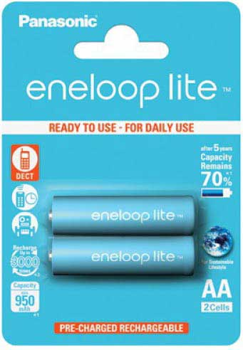 Пальчиковые АА аккумуляторы Panasonic Eneloop Lite BK 3LCCE - 3000 циклов заряд/разряд!