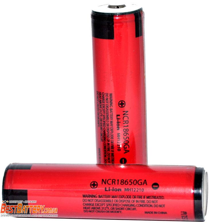 Panasonic NCR 18650GA 3500 mAh Protected литий-ионные аккумуляторы с защитой.