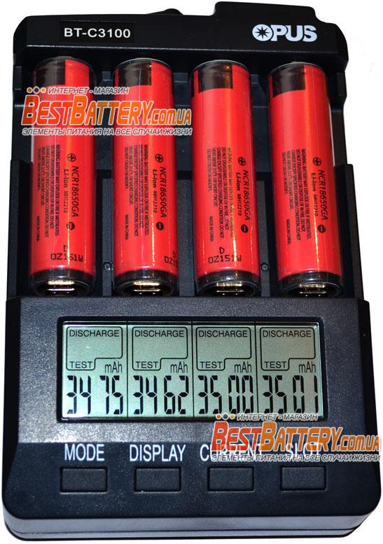 Li-Ion Panasonic NCR 18650GA Результат тестирования ёмксти аккумуляторов.