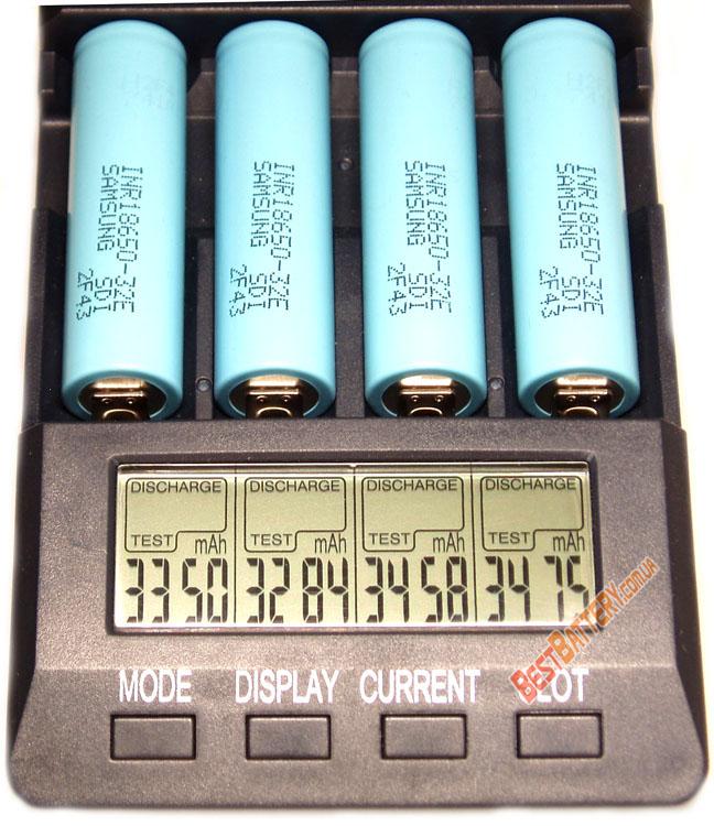Результаты тестирования аккумуляторов Samsung INR 18650 32E 3200 mAh: