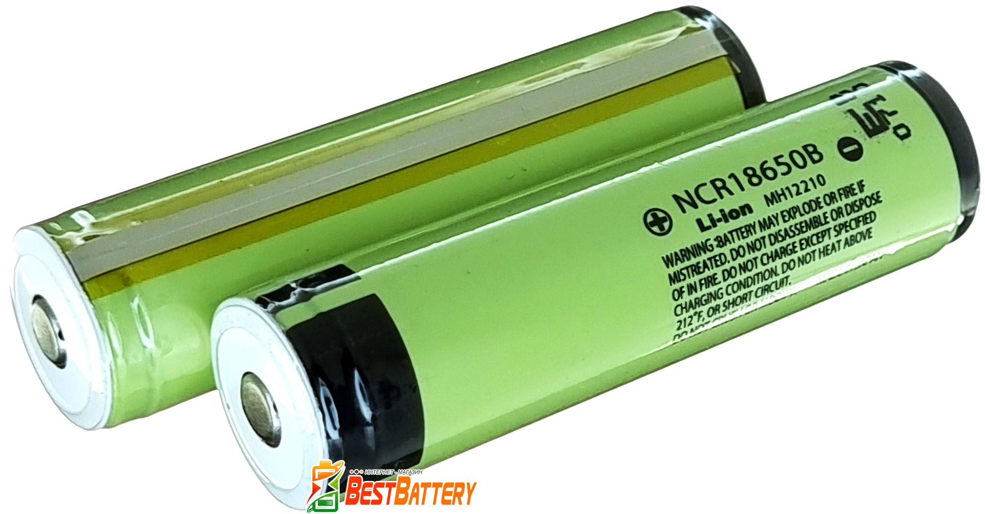 Panasonic NCR18650B 3400 mAh с защитой (Protected) - оригинальные японские Li-ion аккумуляторы.