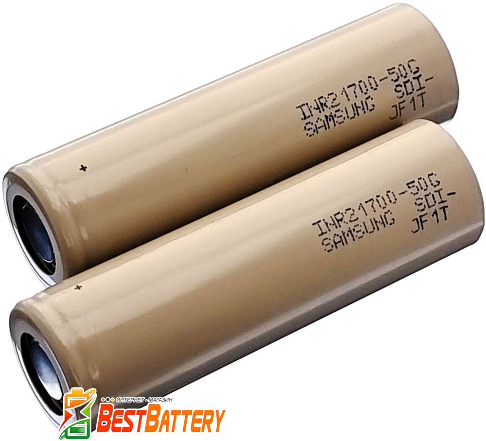 21700 Samsung 50G 5000 mAh - высокотоковый корейкий Li-ion INR аккумулятор форм-фактора 21700.