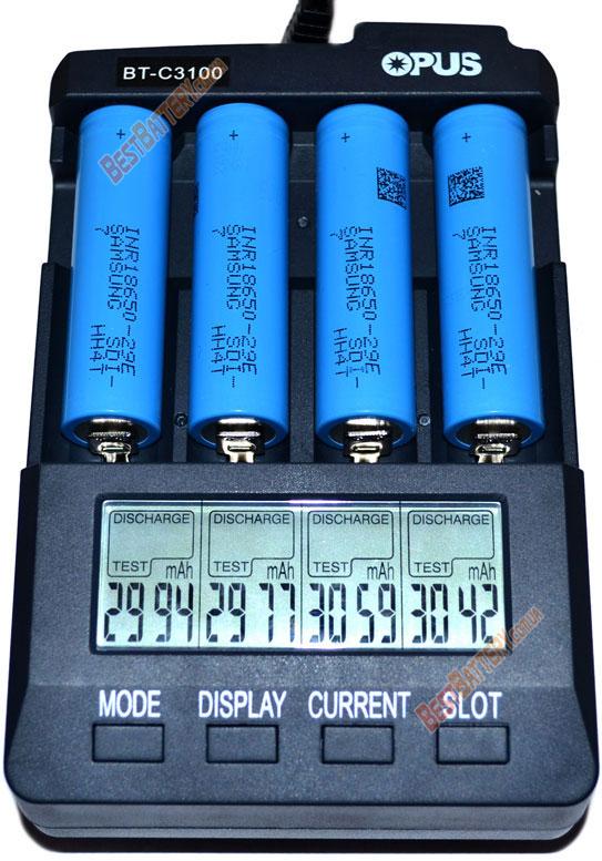 Результаты тестирования Samsung INR 18650 29E 2900mAh E7.