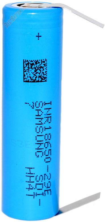 Samsung INR 18650 29E 2900mAh Solder Tags.