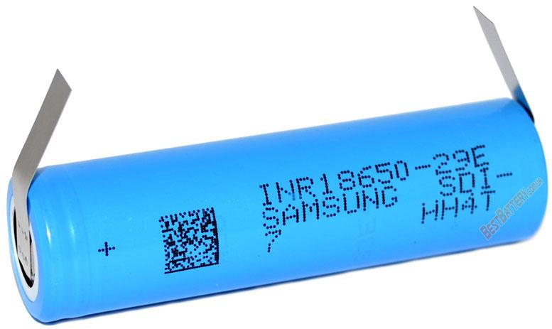 Samsung INR18650 29E 3,7V 2900 mAh Li-ion аккумулятор с лепестками под пайку.