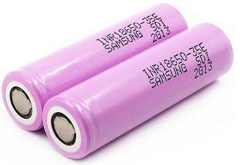 Samsung INR18650 35E 3,7V 3500 mAh Li-ion аккумулятор без защиты.