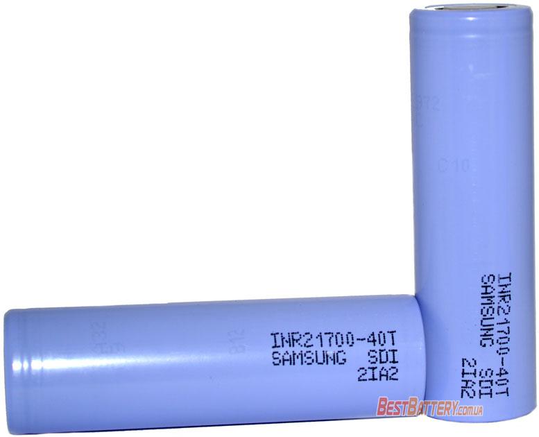 Особенности аккумуляторов Samsung 40T 4000mAh 21700.
