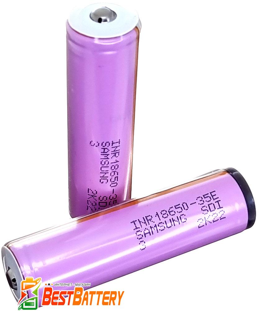 Аккумулятор 18650 Samsung INR18650 35E 3500 mAh Li-ion 3.7V, 8А. С защитой.