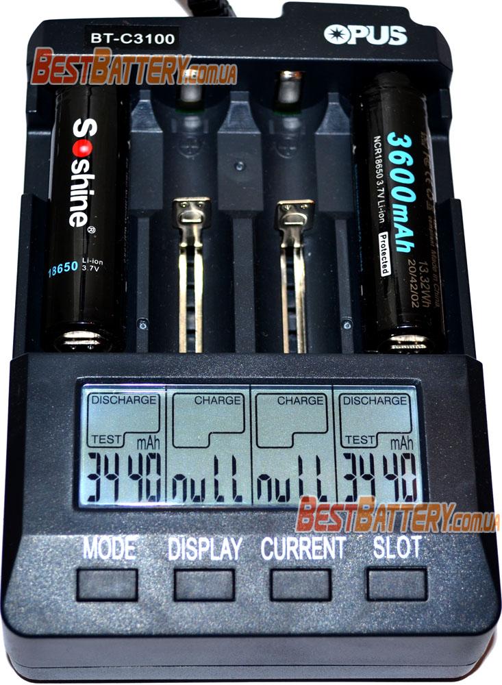 Результат тестирования Li-Ion аккумуляторов Soshine 3600 3.7V с защитой.