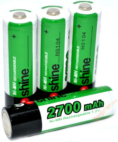 Soshine 2700 mAh пальчиковые аккумуляторы повышенной ёмкости поштучно. (АА)
