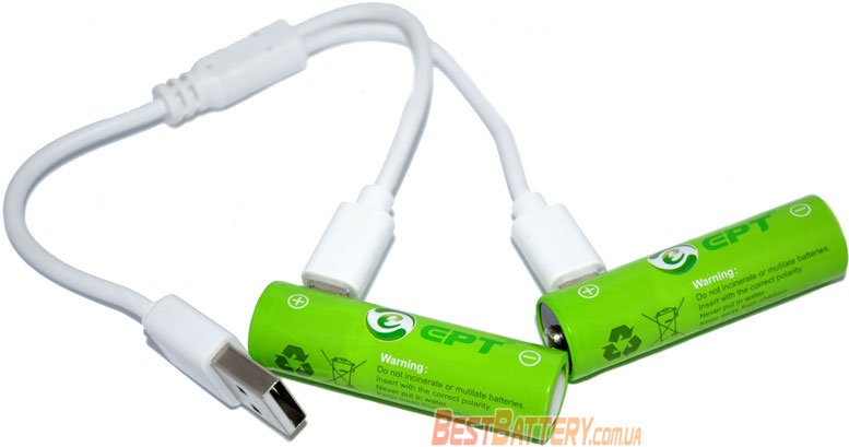 Аккумуляторы Soshine EPT AA 1000 mAh USB.
