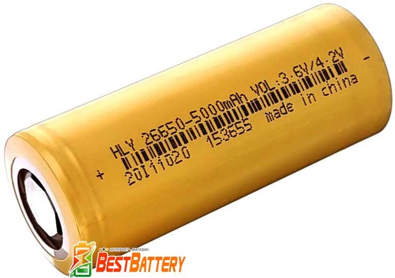 Li-Ion аккумуляторы 26650 Soshine 5000 mAh 3.7В без защиты.