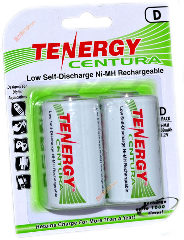 Акумуляторы Tenergy Centura LSD R20 8000 mAh.
