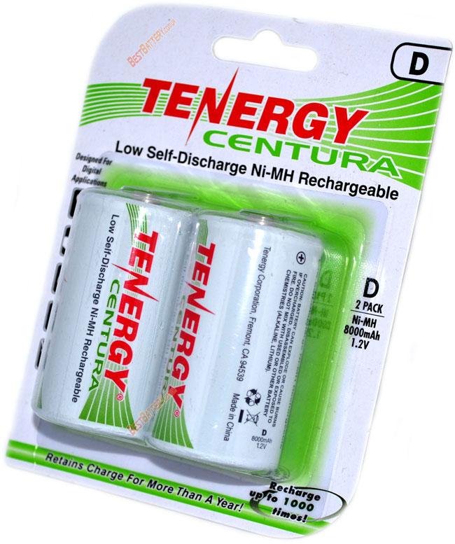 Ni-Mh аккумуляторы D (R20) Tenergy Centura LSD 8000 mAh с низким саморазрядом.