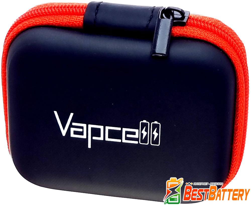 Аккумуляторы 18650 Vapcell M35 3500 mAh удобный кейс для хранения.