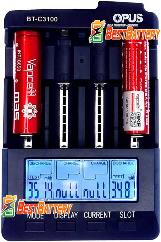 Реальная ёмкость аккумуляторов Vapcell INR 18650 M35 Red 10A.