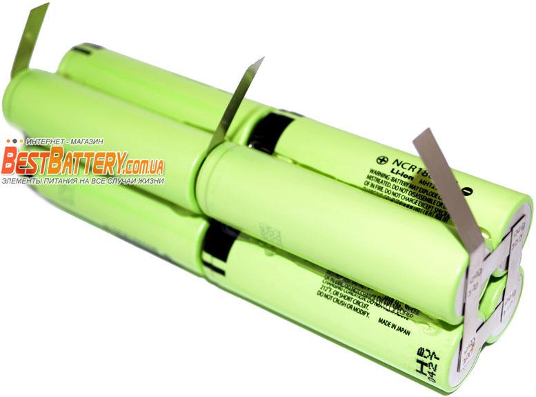 Сборка из литий-ионных аккумуляторов 18650 13600 mAh 7.4V.