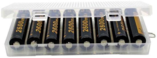 Бокс на 8 Li-ion аккумуляторов формата 18650