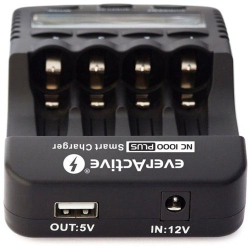 EverActive NC1000 - интеллектуальное зарядное устройство для АА и ААА аккумуляторов