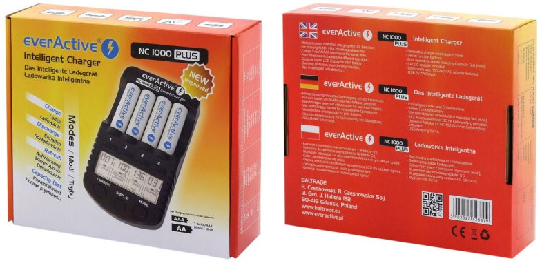 Комплект поставки EverActive NC1000