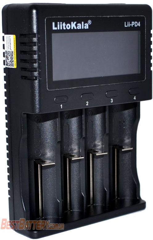 LiitoKala Lii-PD4 - универсальное зарядное устройство для Ni-Mh, Ni-Cd, Li-Ion и LiFePO4 аккумуляторов с дисплеем.