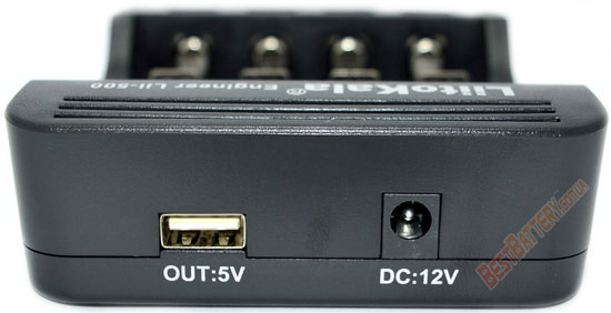 USB выход 5V 1A в зарядном устройстве Liito Kala Lii-500