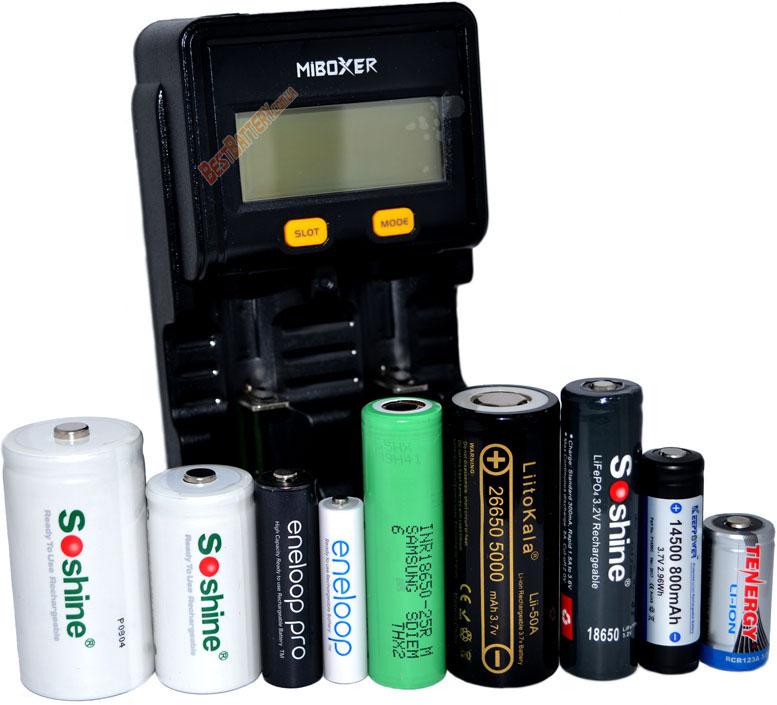 Универсальность зарядного устройства Miboxer C2-4000.