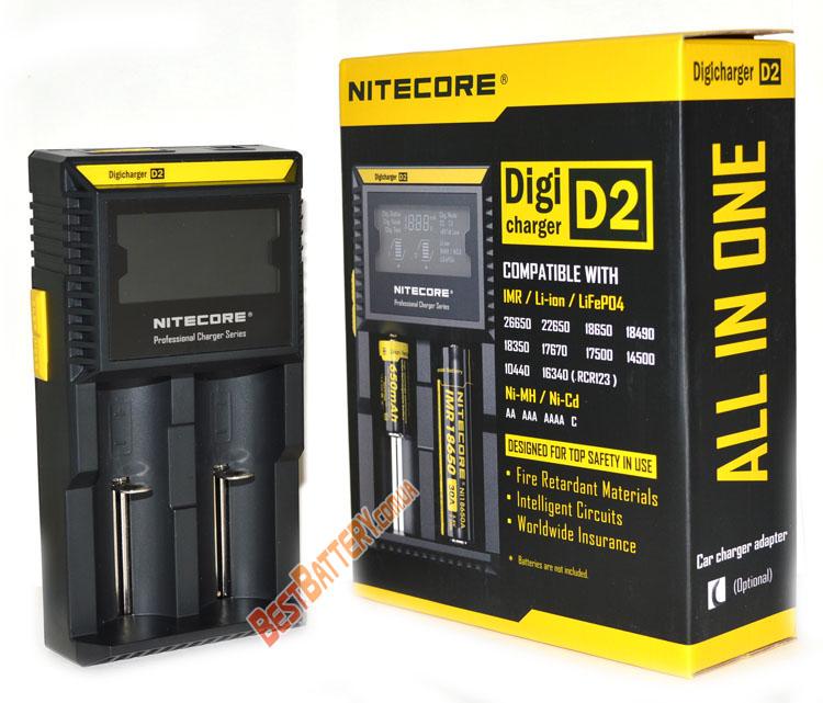 Nitecore Digicharger D2 универсальное зарядное устройство