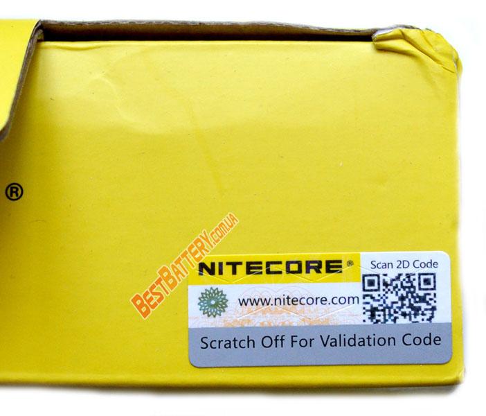 Nitecore Digicharger D2 код проверки на коробке.