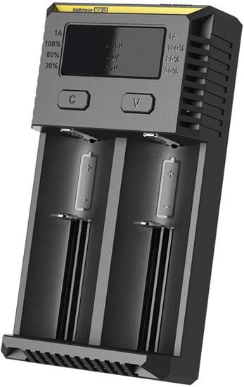 Nitecore Intellicharger NEW i2 - универсальное зарядное устройство для Ni-Mh (Ni-Cd), Li-ion и IMR аккумуляторов.