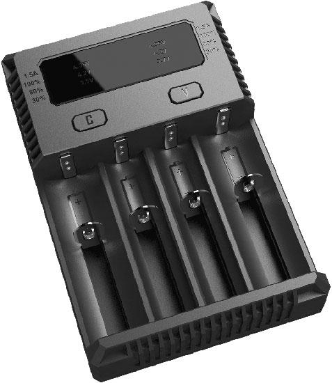 Nitecore Intellicharger NEW i4 - четырехканальное универсальное зарядное устройство для Ni-Mh (Ni-Cd), Li-ion и IMR аккумуляторов