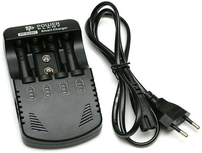 Power Plant PP-EU401 - универсальное автоматическое зарядное устройство для АА, ААА и аккумуляторов Крона 9В.
