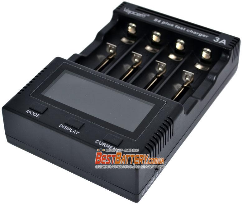 Vapcell S4 Plus Super Charger v2.0 - интеллектуальное быстрое универсальное зарядное устройство.