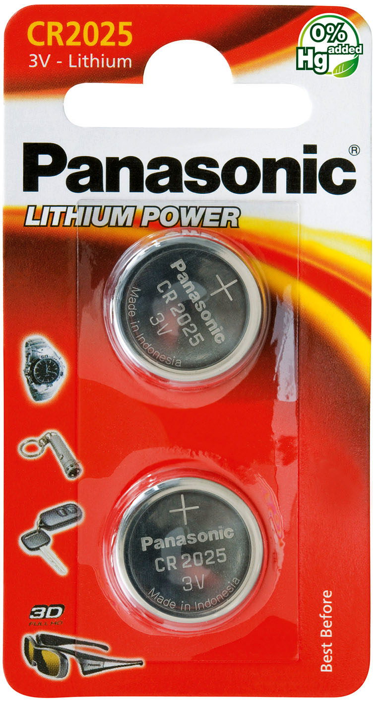 CR 2025 Panasonic Litium Power - литиевая батарейка-таблетка, 3В.