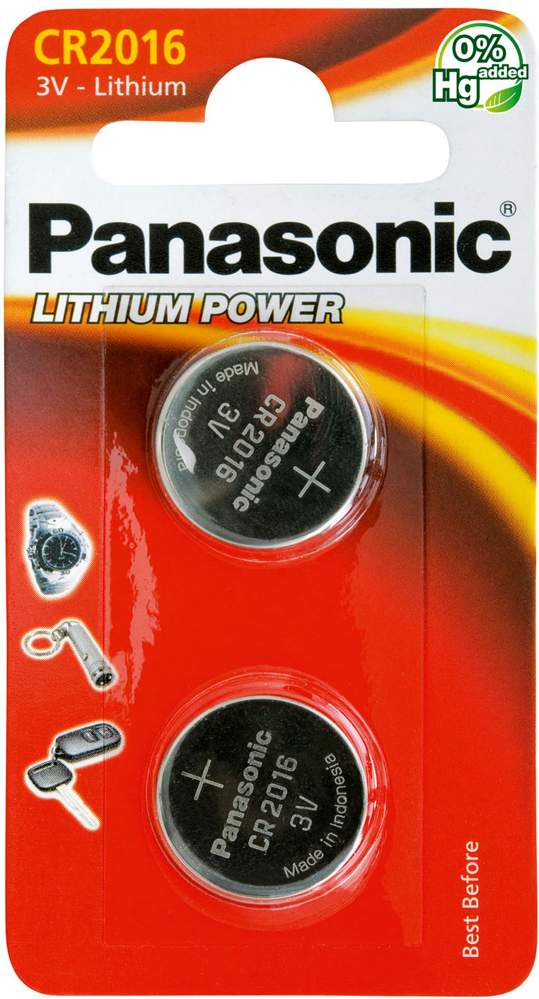 CR 2016 Panasonic Litium Power - литиевая батарейка-таблетка, 3В.