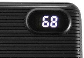 Power Bank HQ Tech 5508QC 10000 mAh индикатор уровня заряда в %.